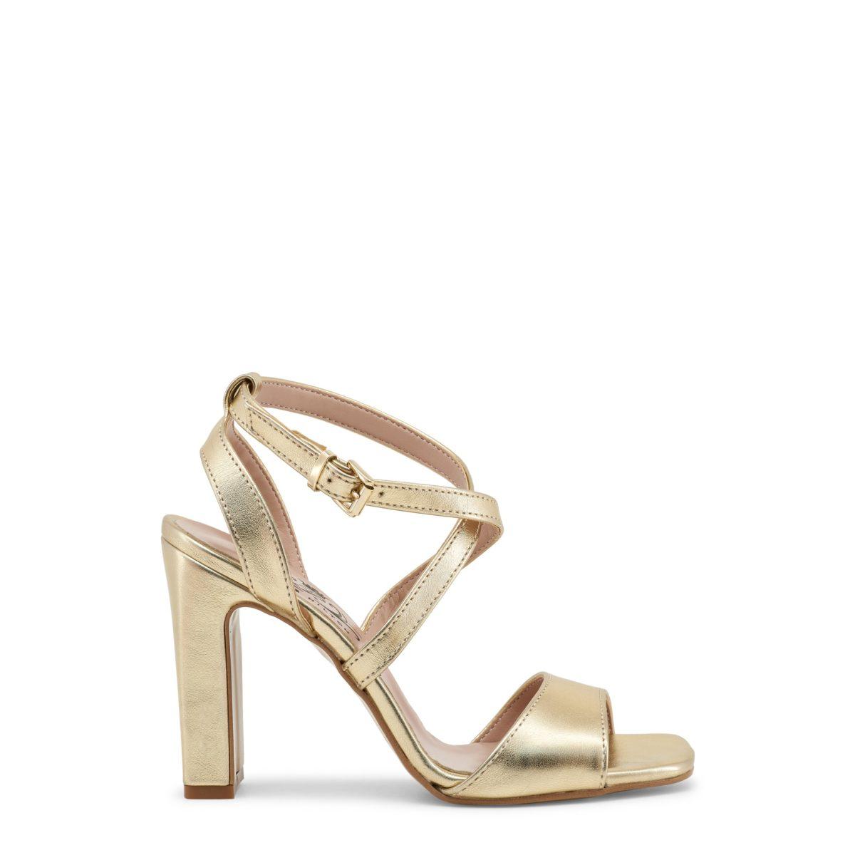 le rapport qualité prix le prix reste stable caractéristiques exceptionnelles Sandales à talon épais dorées Paris Hilton