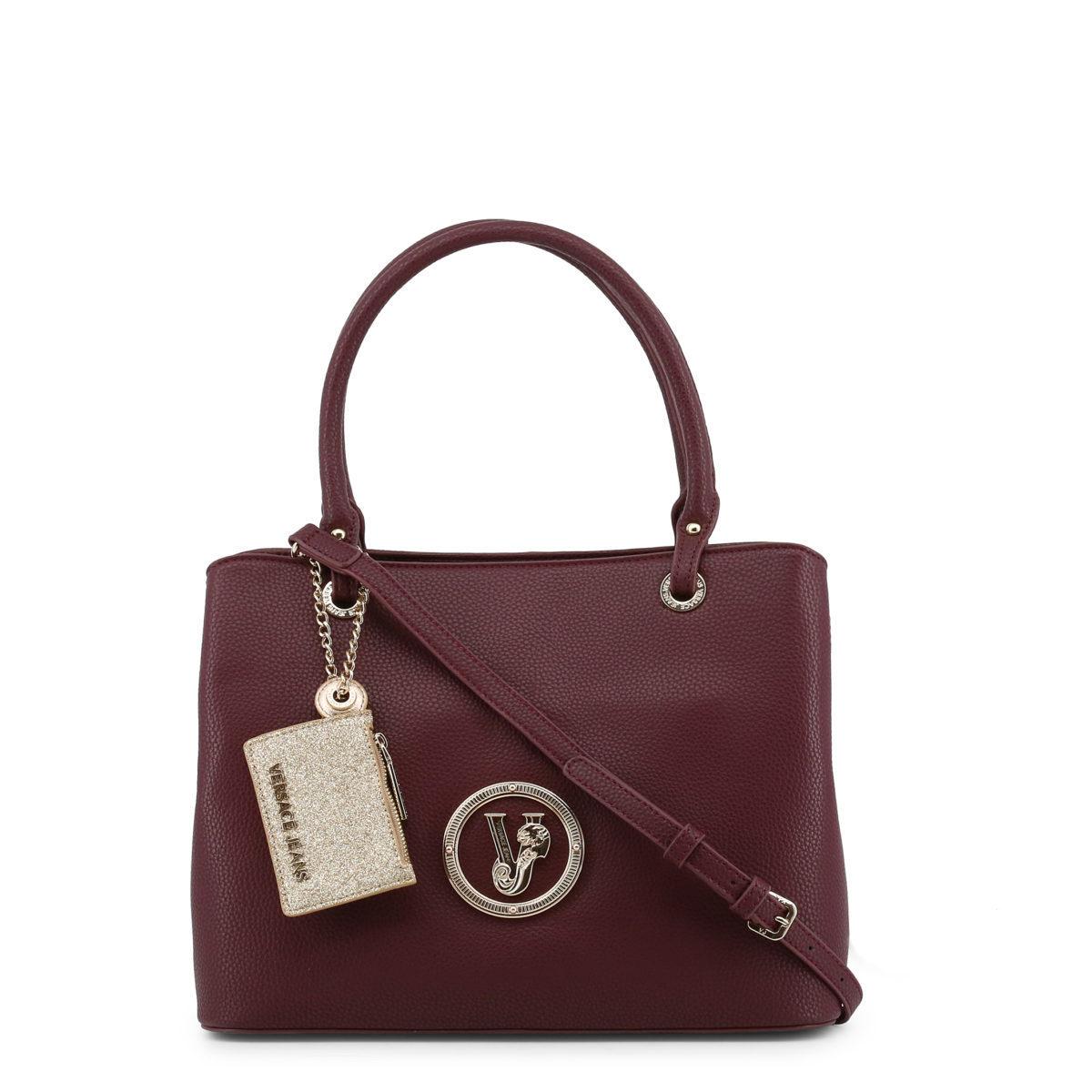 640917fe63 AccueilFemmeSacsSacs porté épaule Versace Jeans – sac à main imitation cuir  couleur rouge bordeaux