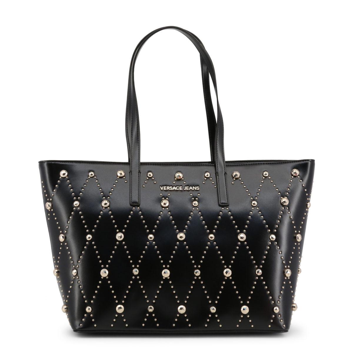 ce6f5a8316 Versace Jeans - sac à main à clous couleur noir | BUZZAO