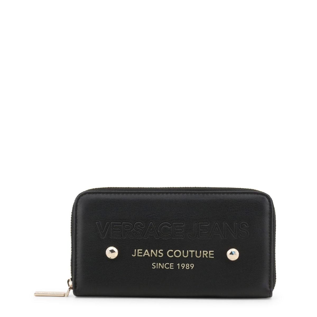 haut de gamme véritable usa pas cher vente chaussure Versace Jeans - portefeuille pour femme noir détail cristaux or