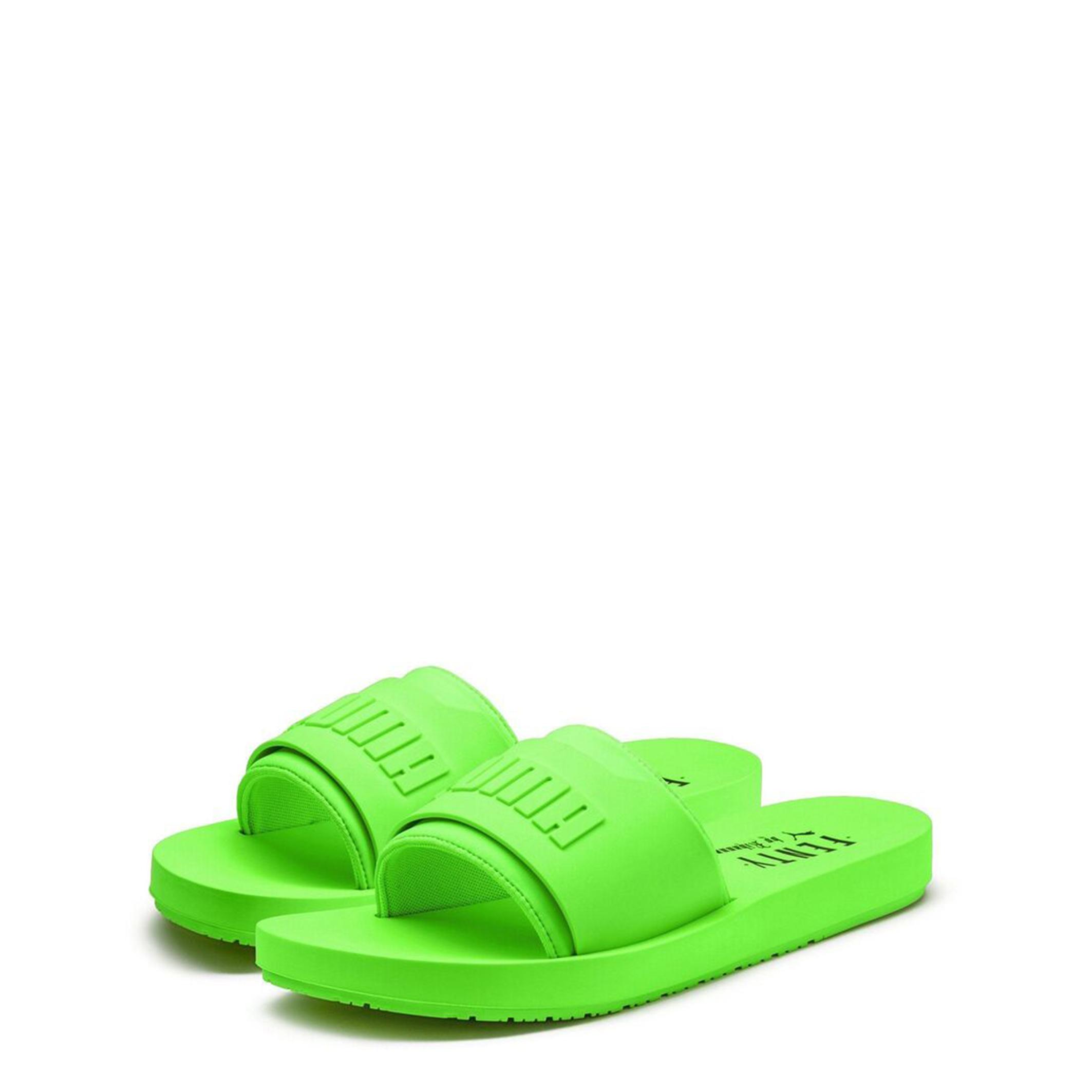 tout neuf 8712c 1a28c Puma - Claquettes vert fluo