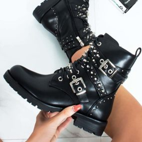 BLACK-BUCKLE-STUDDED-MULTI-STRAP-BIKER-BOOT-6
