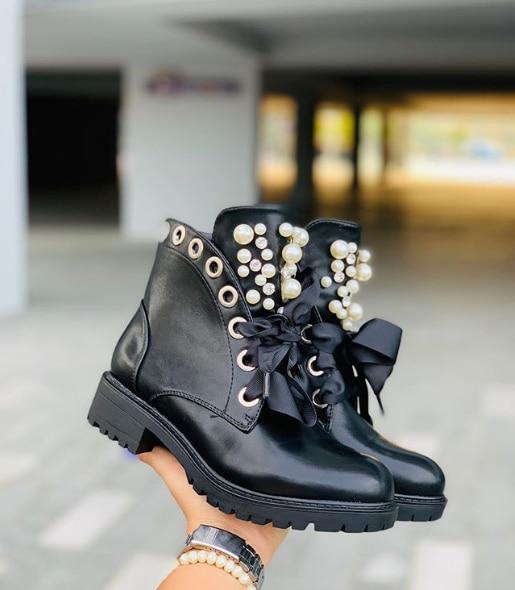 [GOGD] bottes d'hiver femmes bottes d'hiver femmes fermeture éclair Martin bottes bottes de moto compensées