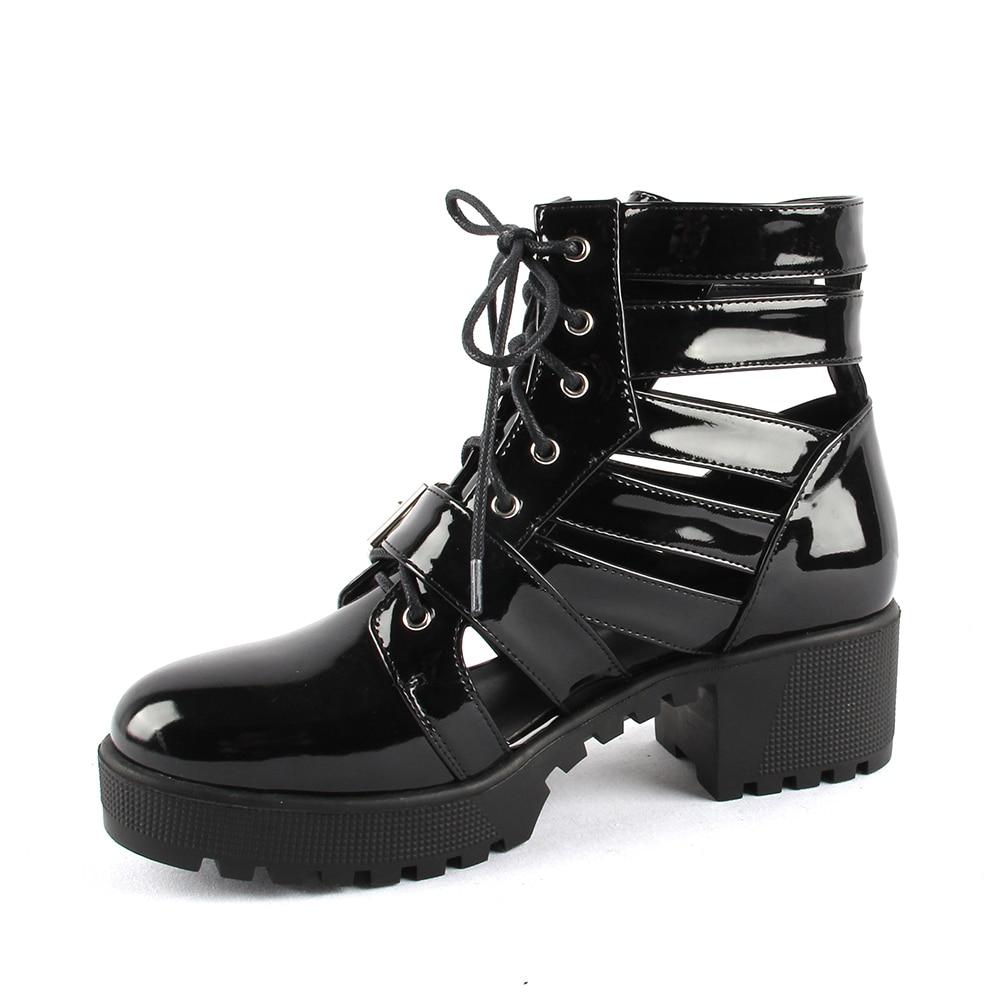 Perixir marque concepteur femmes bottes boucle bottines pour femmes Style de rue découpé chaussures Punk printemps chaussures à talons hauts