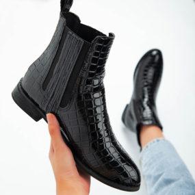 LALA-IKAI-femmes-bottines-Crocodile-motif-PU-Chelsea-botte-2020-mode-élasticité-bottes-d'équitation-femme-automne-hiver-A30770-4
