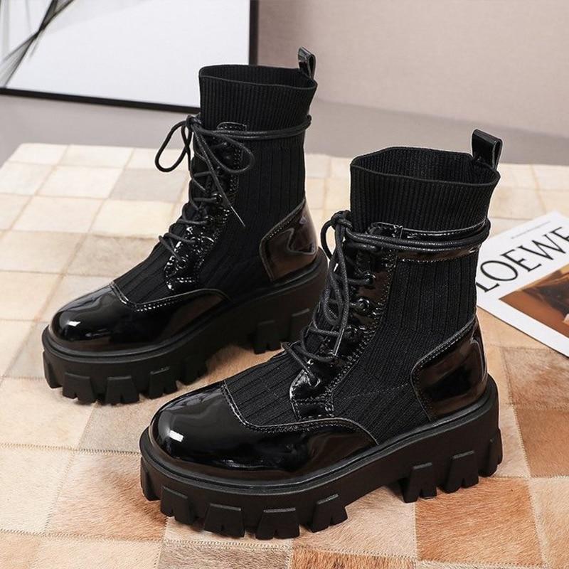 Véritable cuir souple bottes nues femmes Style britannique automne et hiver 2020 nouveau décontracté femmes chaussures bottes courtes femmes mode