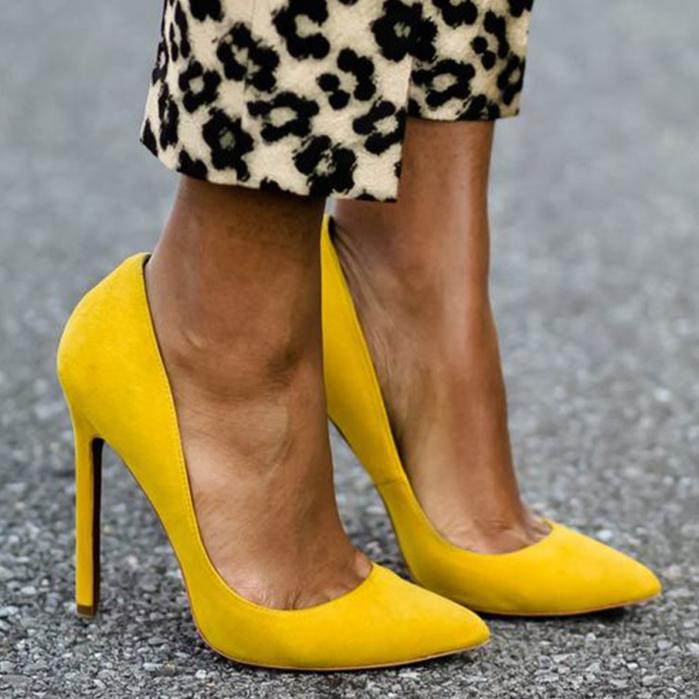 LALA IKAI-sandales en Faux daim pour femmes, chaussures de base, couleurs unies, talons hauts 10CM, escarpins Sexy pour femmes, 014c0474-3, 2020