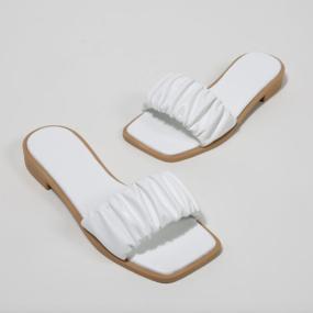 Sandales-blanches-plates-bride-froncée-Naomi_2