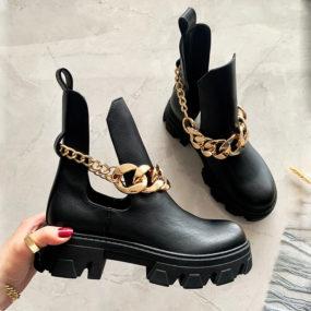 Boots-ajourées-noires-à-chaine-Summer-5